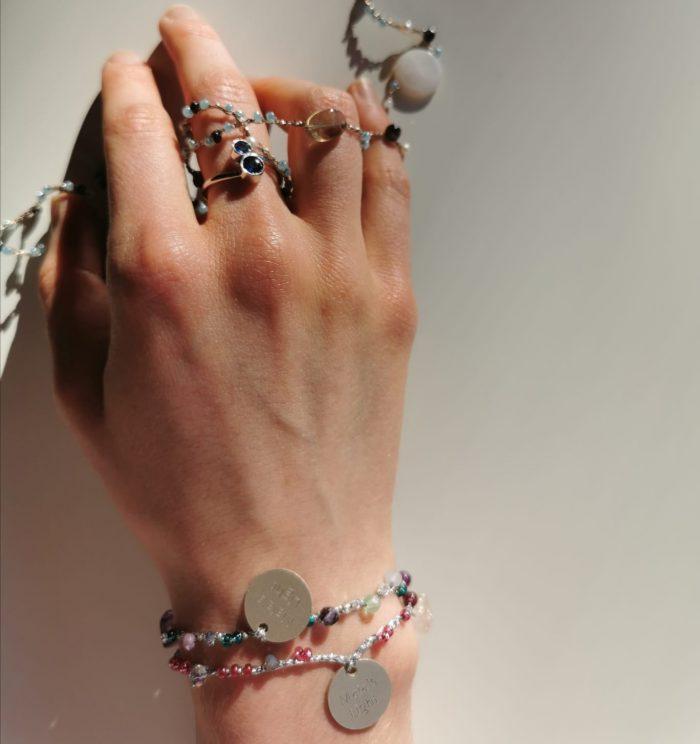 2 braccialetti collana