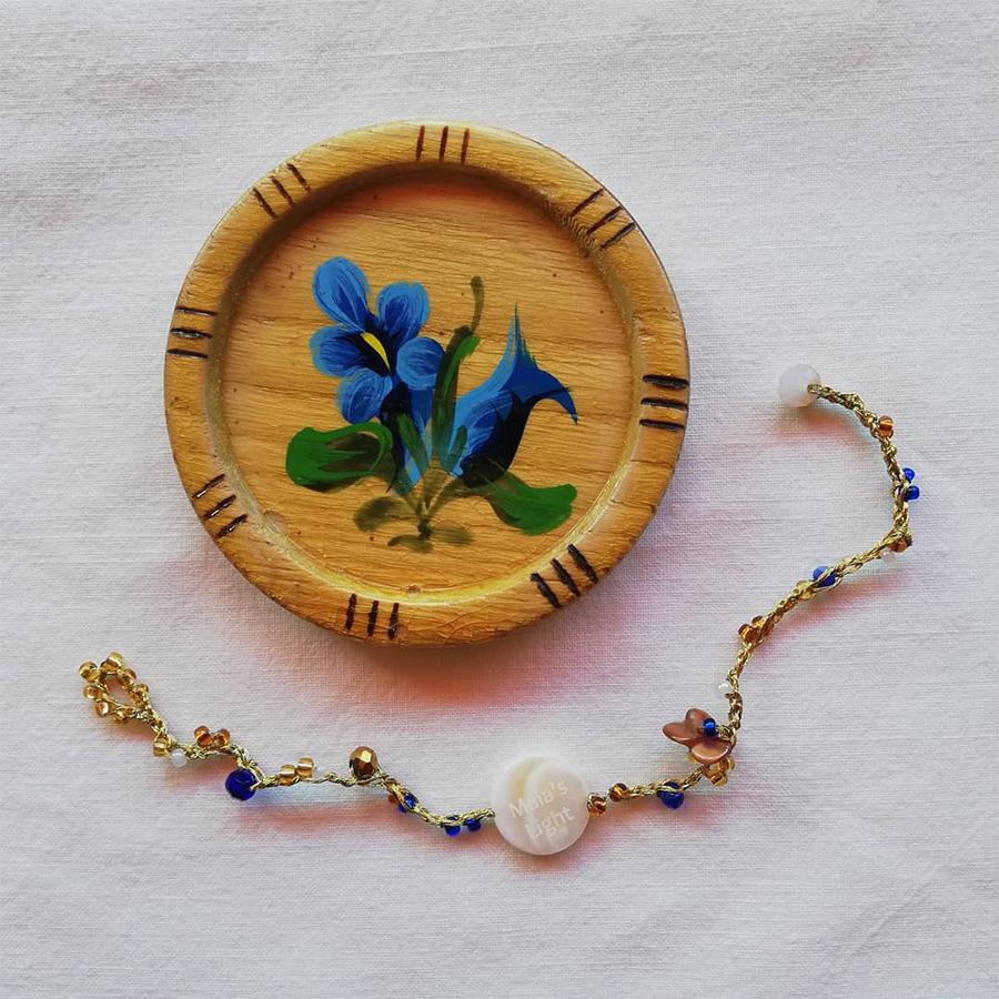 braccialetto giallo blu