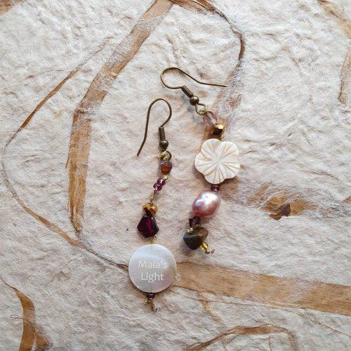 orecchini fiore madreperla
