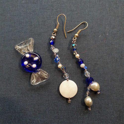 orecchini pietre blu