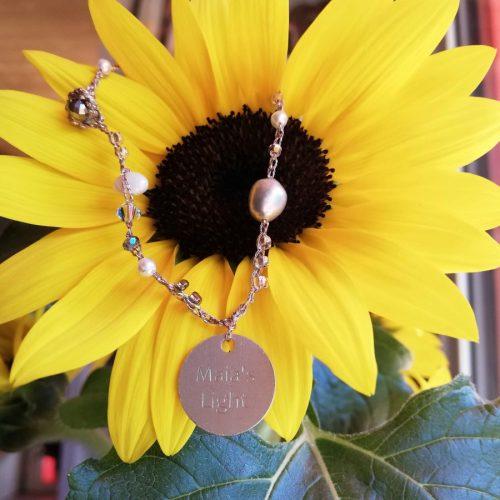 braccialetto perle argento bianche