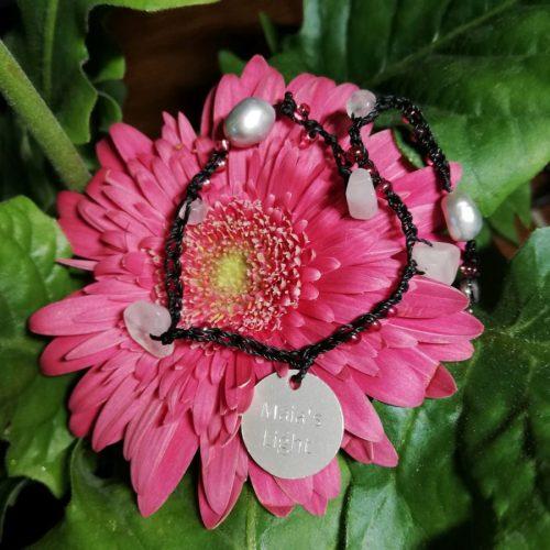braccialetto cuoio rosa fucsia ape