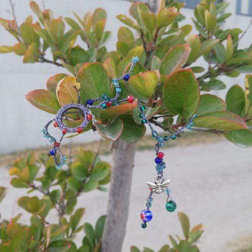 braccialetto doppio rosso blu