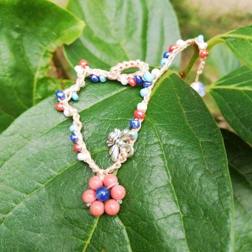 braccialetto fiore corallo